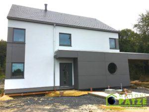 Ossature bois Jamoigne Luxembourg construction terminée 2