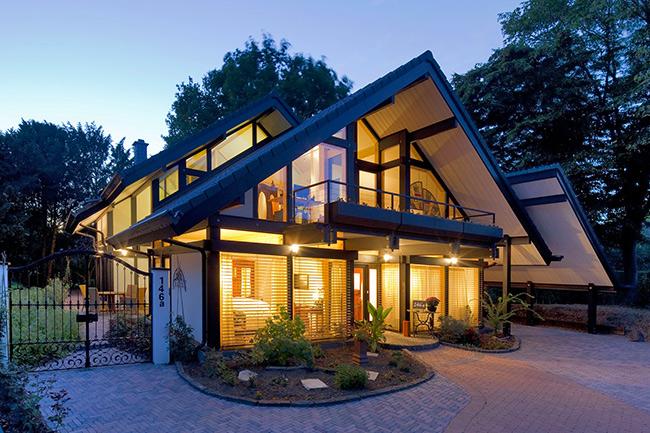Maison avec ossature bois