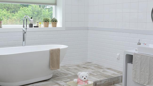 Ossature bois salle de bains